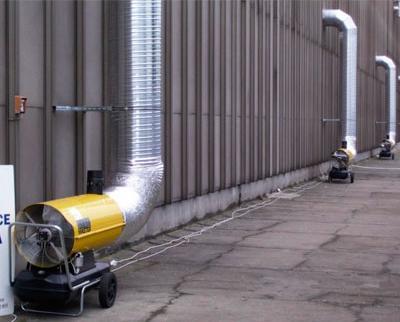 дизельная пушка для отопления промышленных помещений