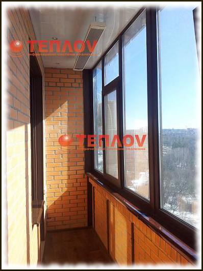 отопление балкона системой инфракрасного потолочного отопления