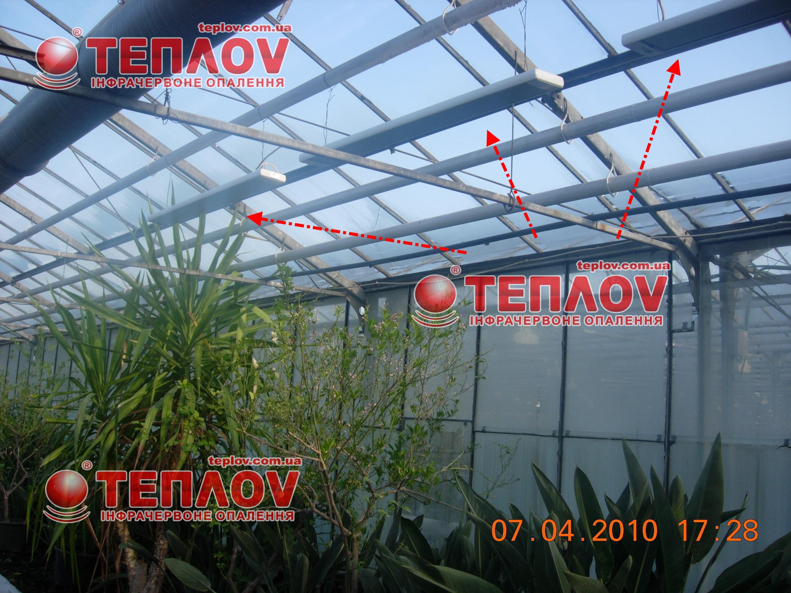 обогрев зимних садов инфракрасными обогревателями