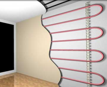 стеновое лучистое отопление