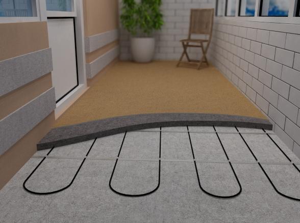 отопление балкона системой теплый пол