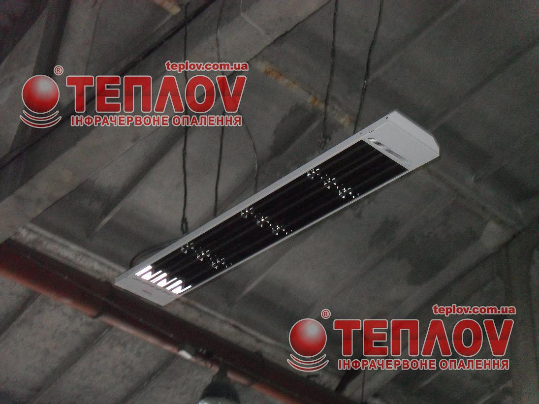 промышленный электрообогрев цеха потолочными инфракрасными панелями