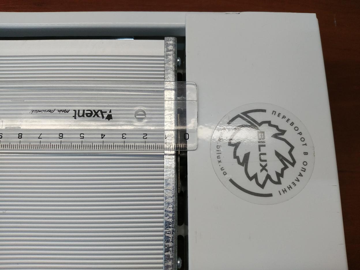 Верхний зазор потолочного обогревателя Билюкс Б1350