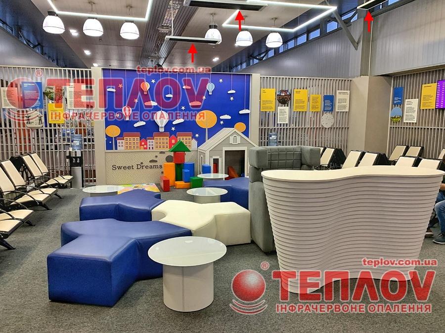Обогрев зала ожидания аэропорта Борисполь