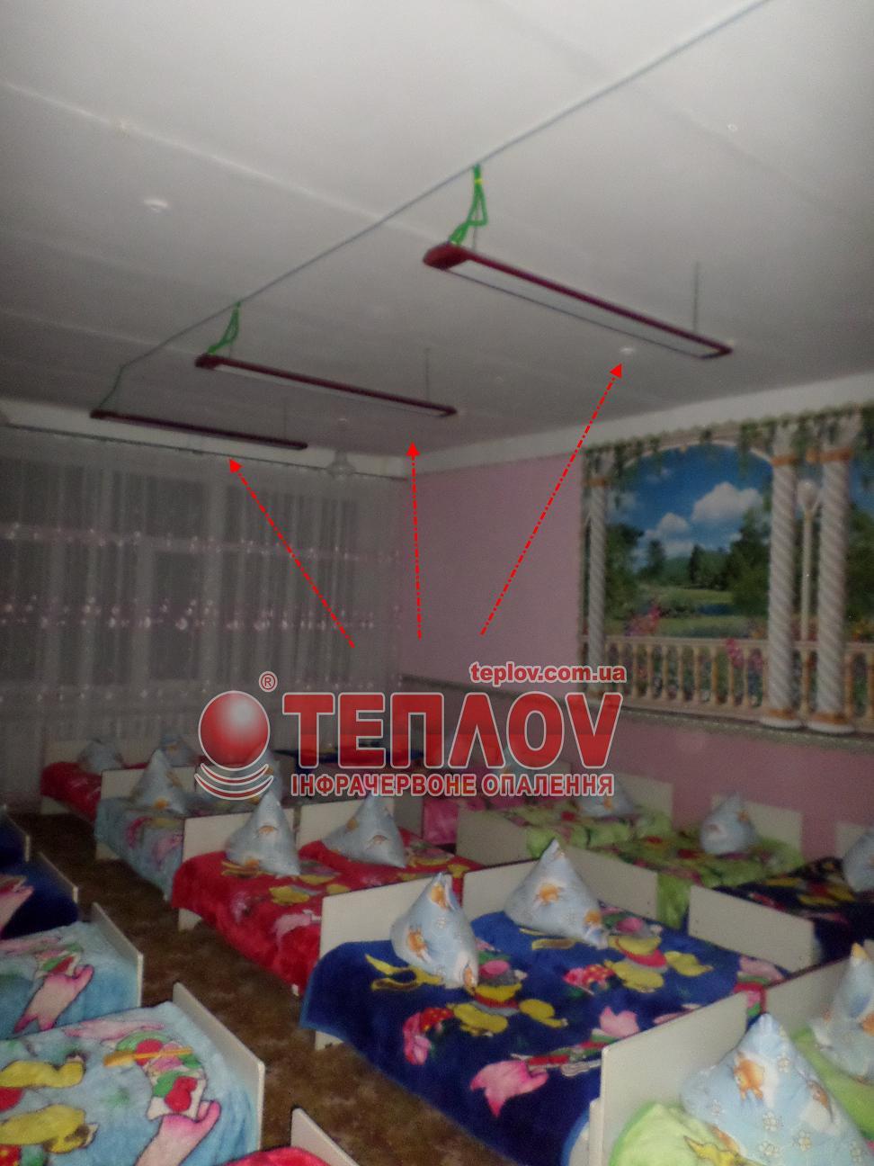 отопление детского сада инфракрасными панелями