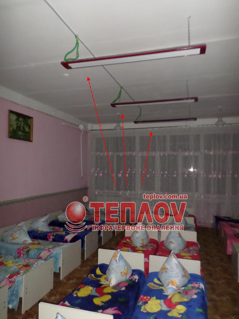 отопление детских учреждений потолочными ИК обогревателями