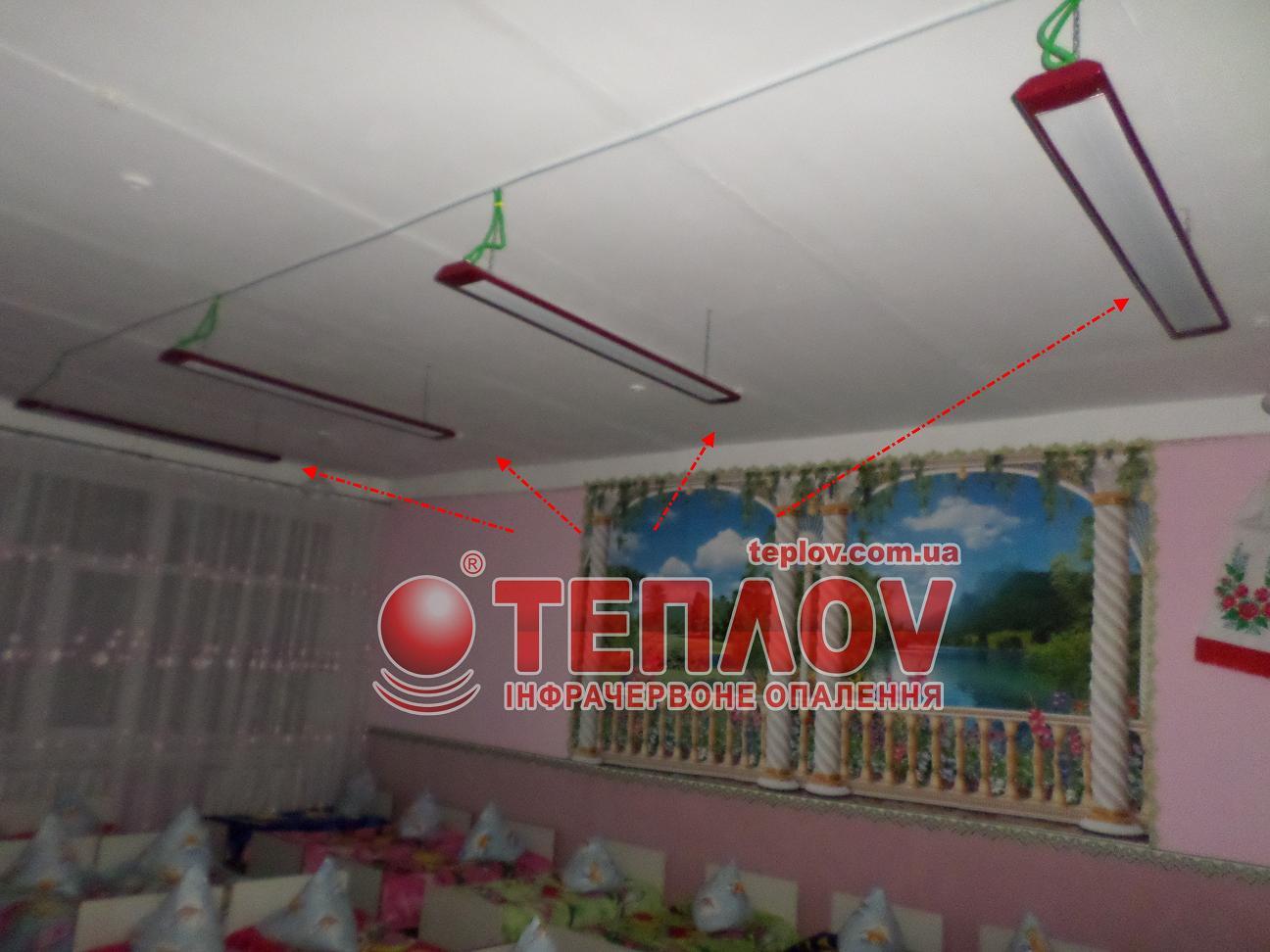 автономное отопление детского сада обогревателями Теплов
