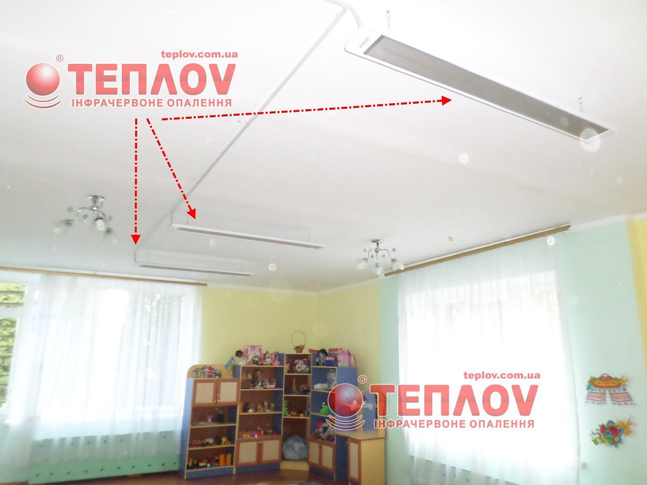 отопление детского сада потолочными панелями