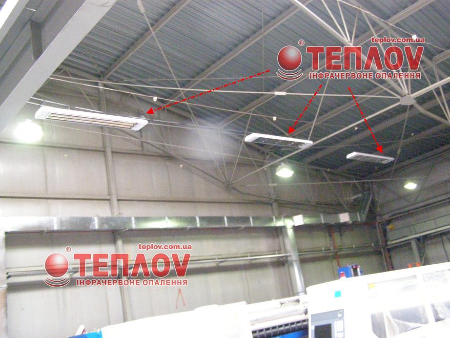 отопление промышленных зданий электрическими инфракрасными обогревателями
