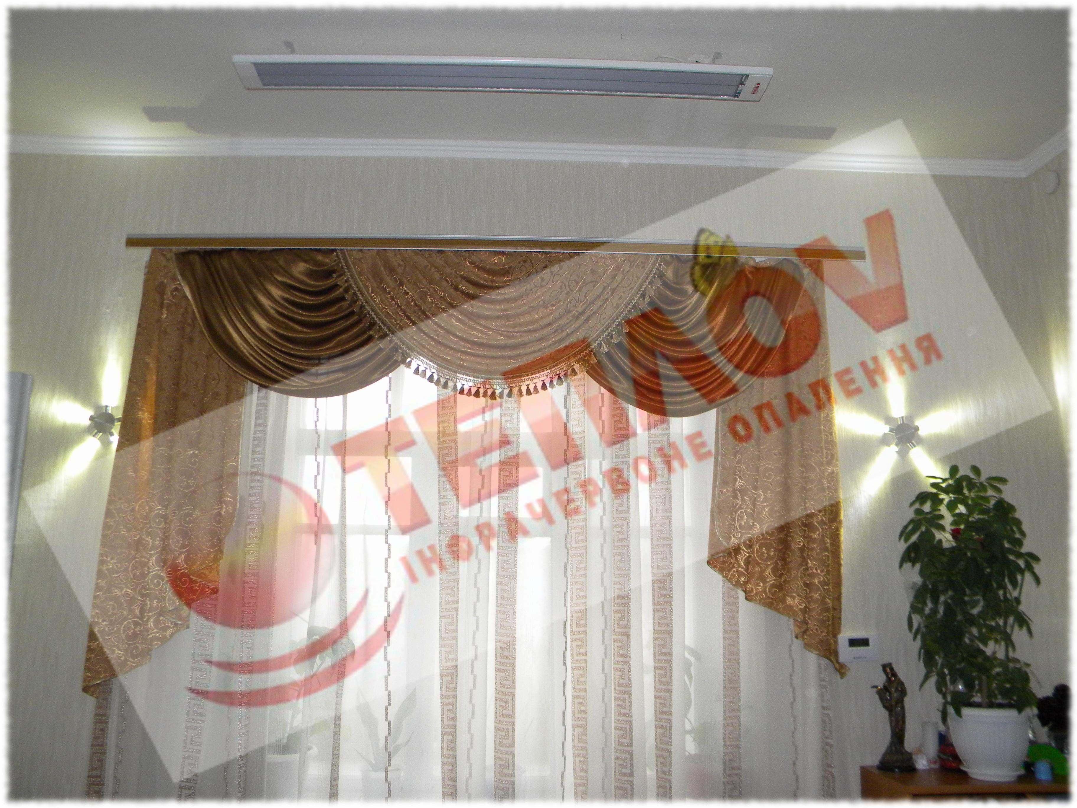 потолочный ИК обогреватель Теплов в частном доме