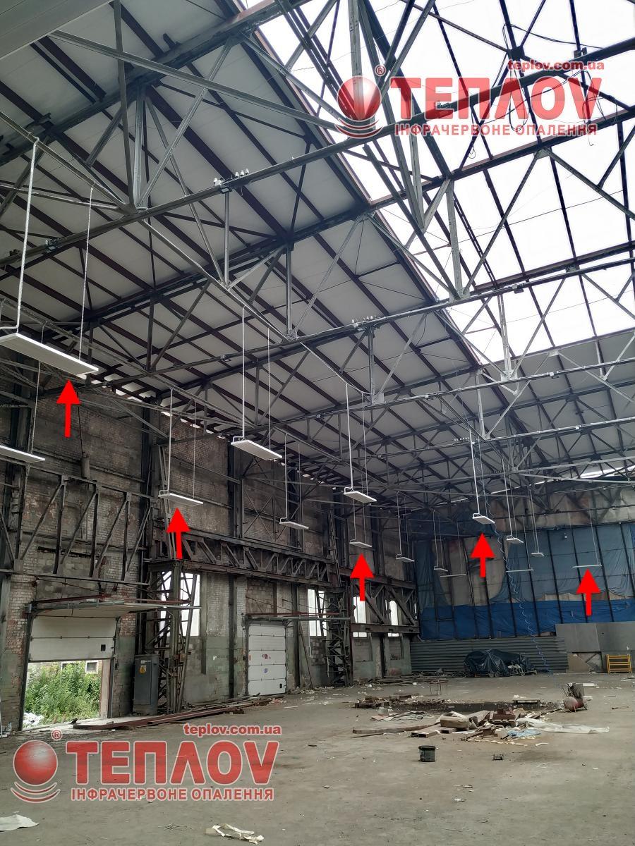 Отопление склада инфракрасными обогревателями