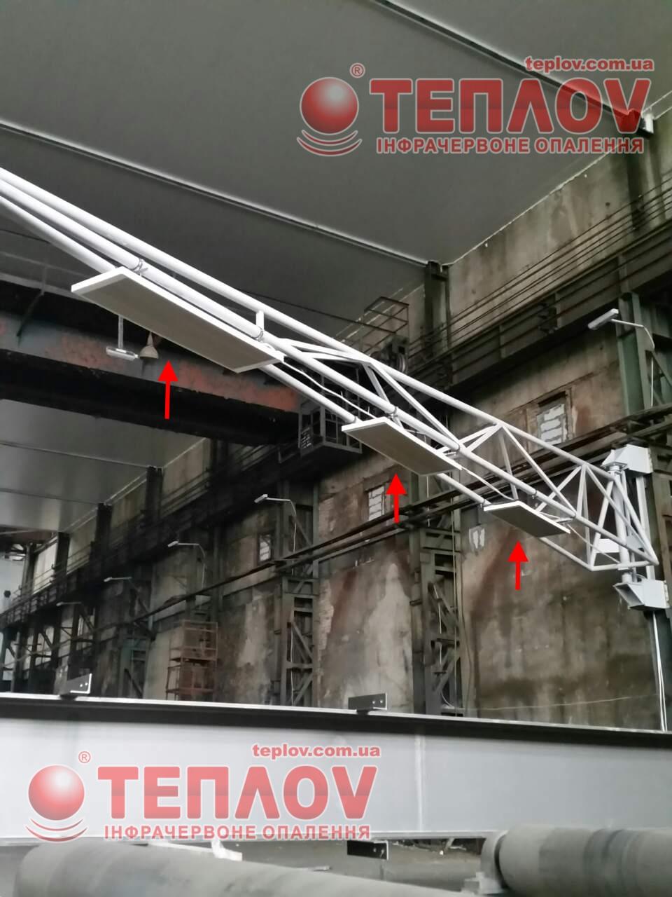 В цеху ЖБЗ применили потолочные обогреватели