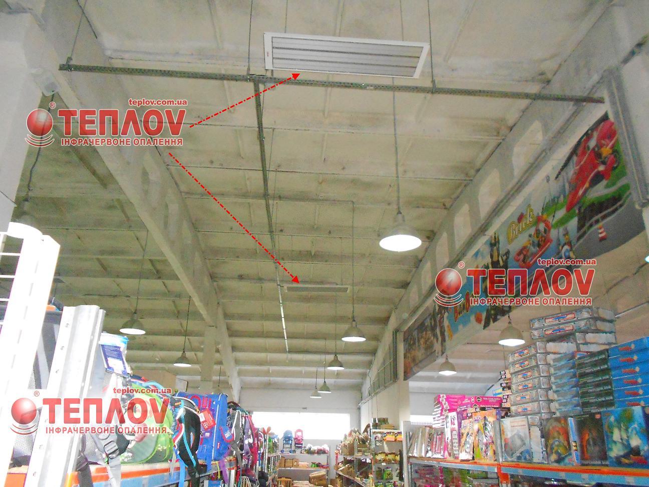 экономичное инфракрасное отопление складских комплексов потолочными обогревателями