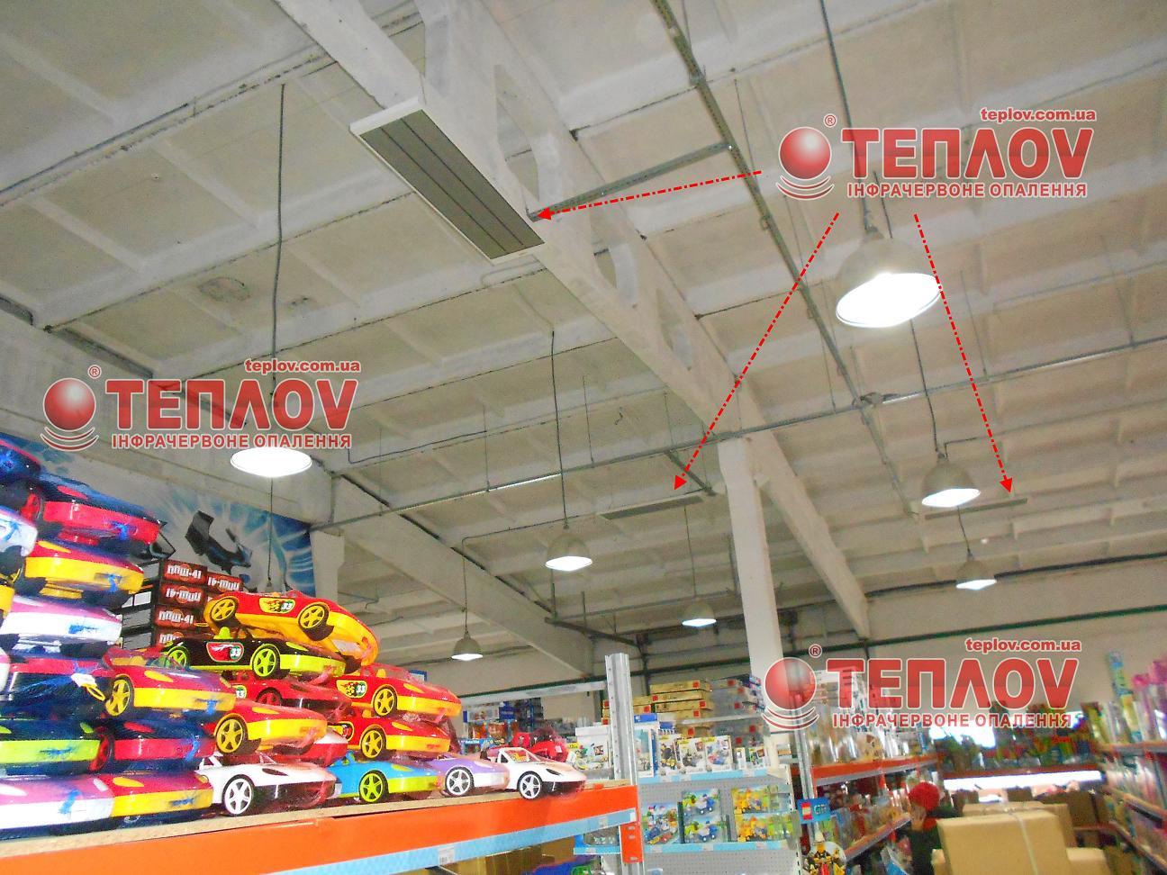 отопление складских помещений экономичными инфракрасными промышленными обогревателями
