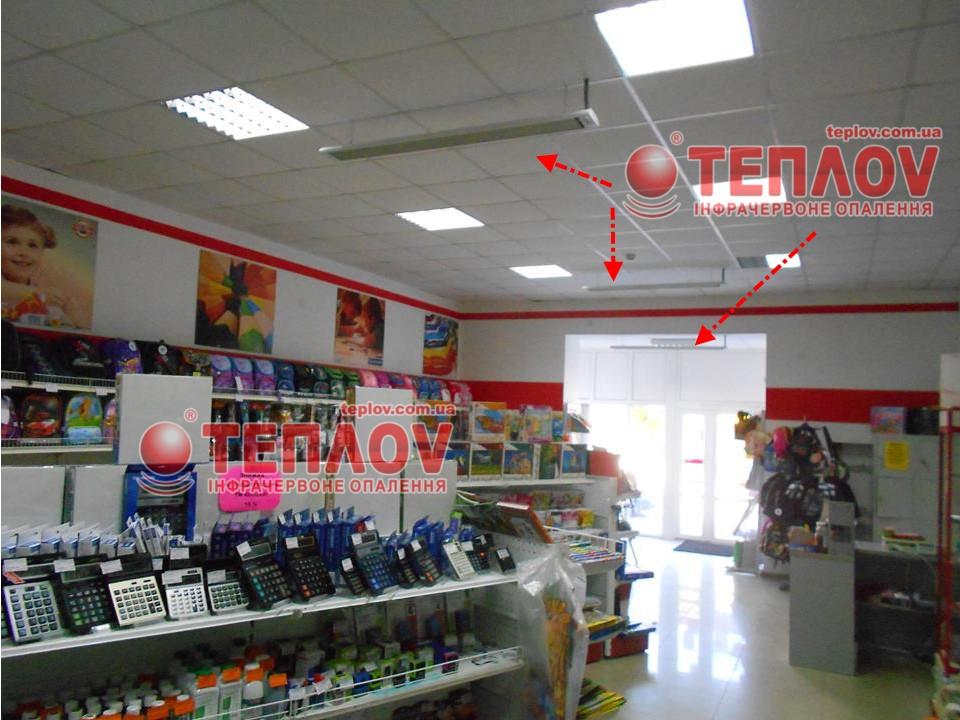 отопление магазина автономными электрическими обогревателями