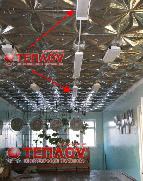 потолочное отопление кинозала не занимает полезной площади