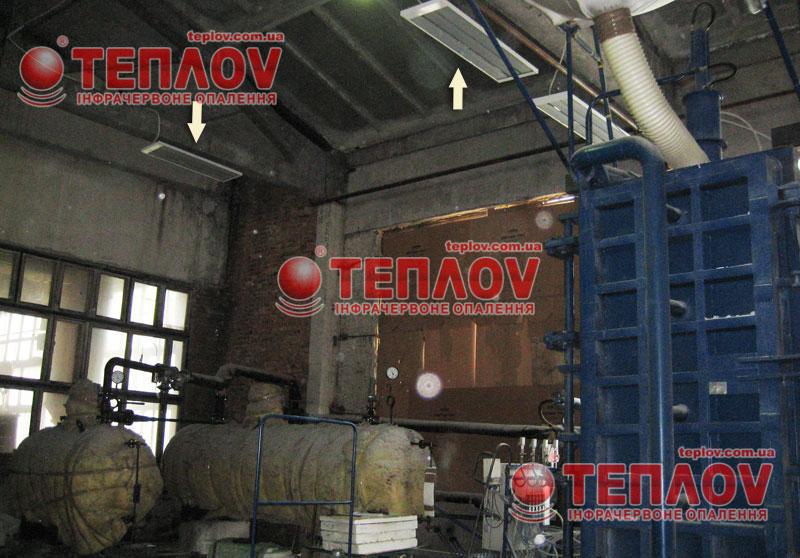 промышленное отопление инфракрасными панелями