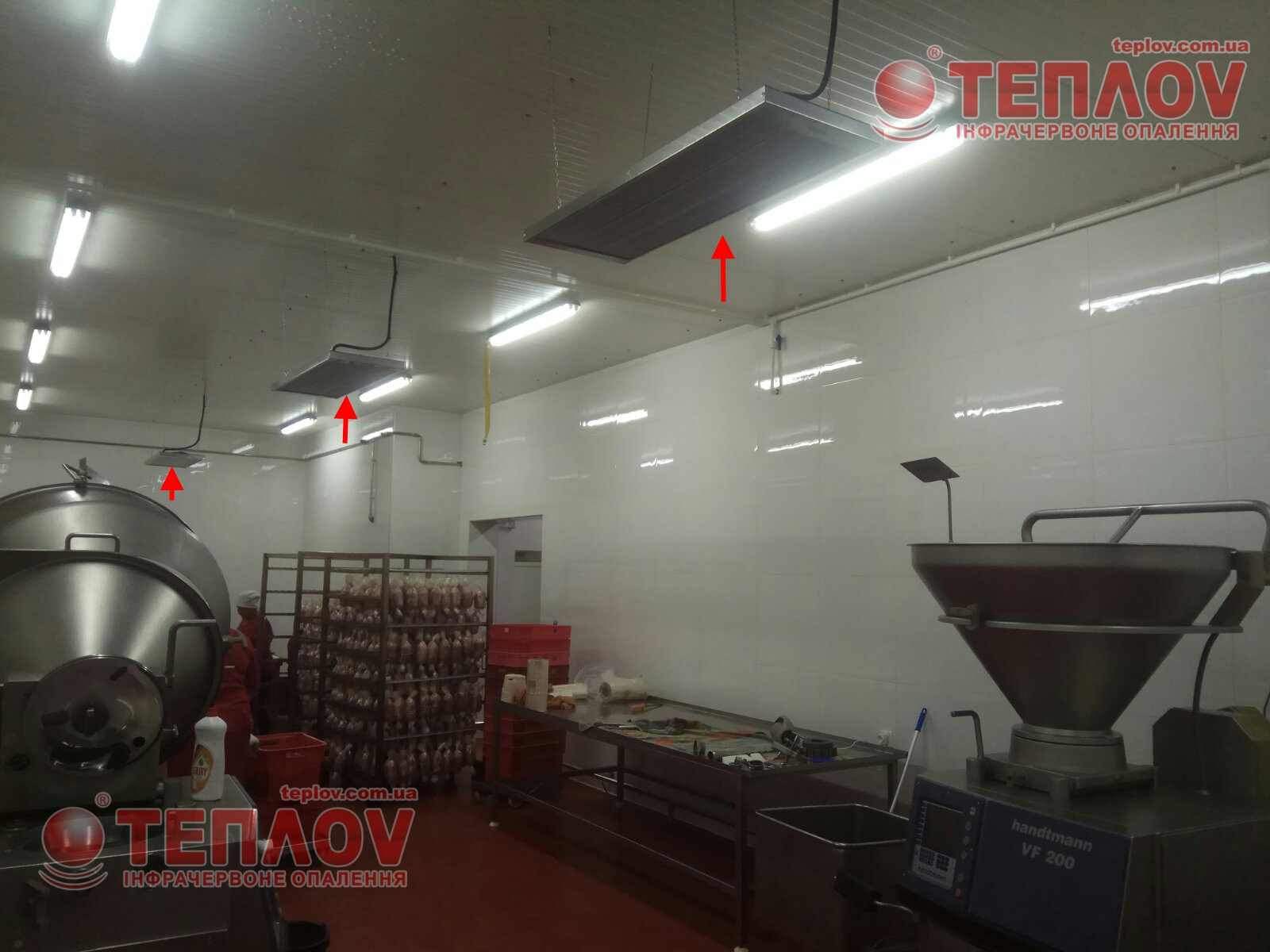 инфракрасное отопление мясокомбината