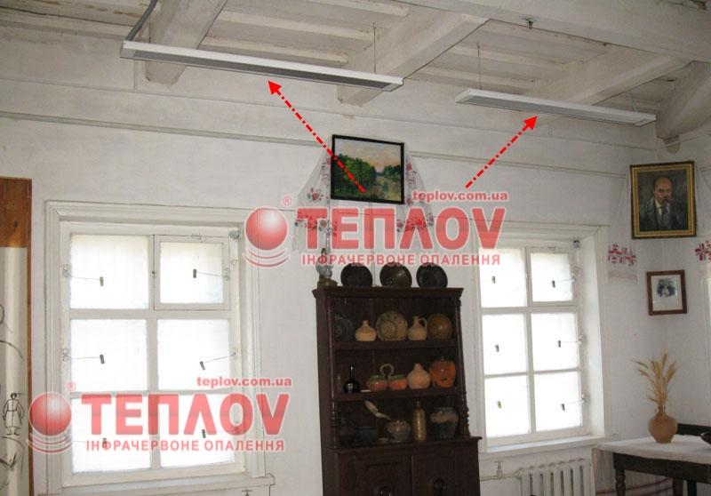 отопление музея электрическими инфракрасными обогревателями