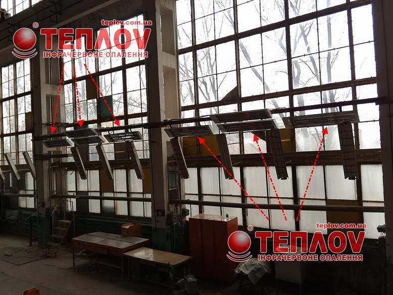отопление промышленных объектов на предприятии НАРП