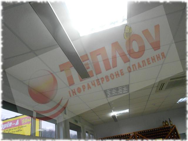 отопление магазина потолочными обогревателями
