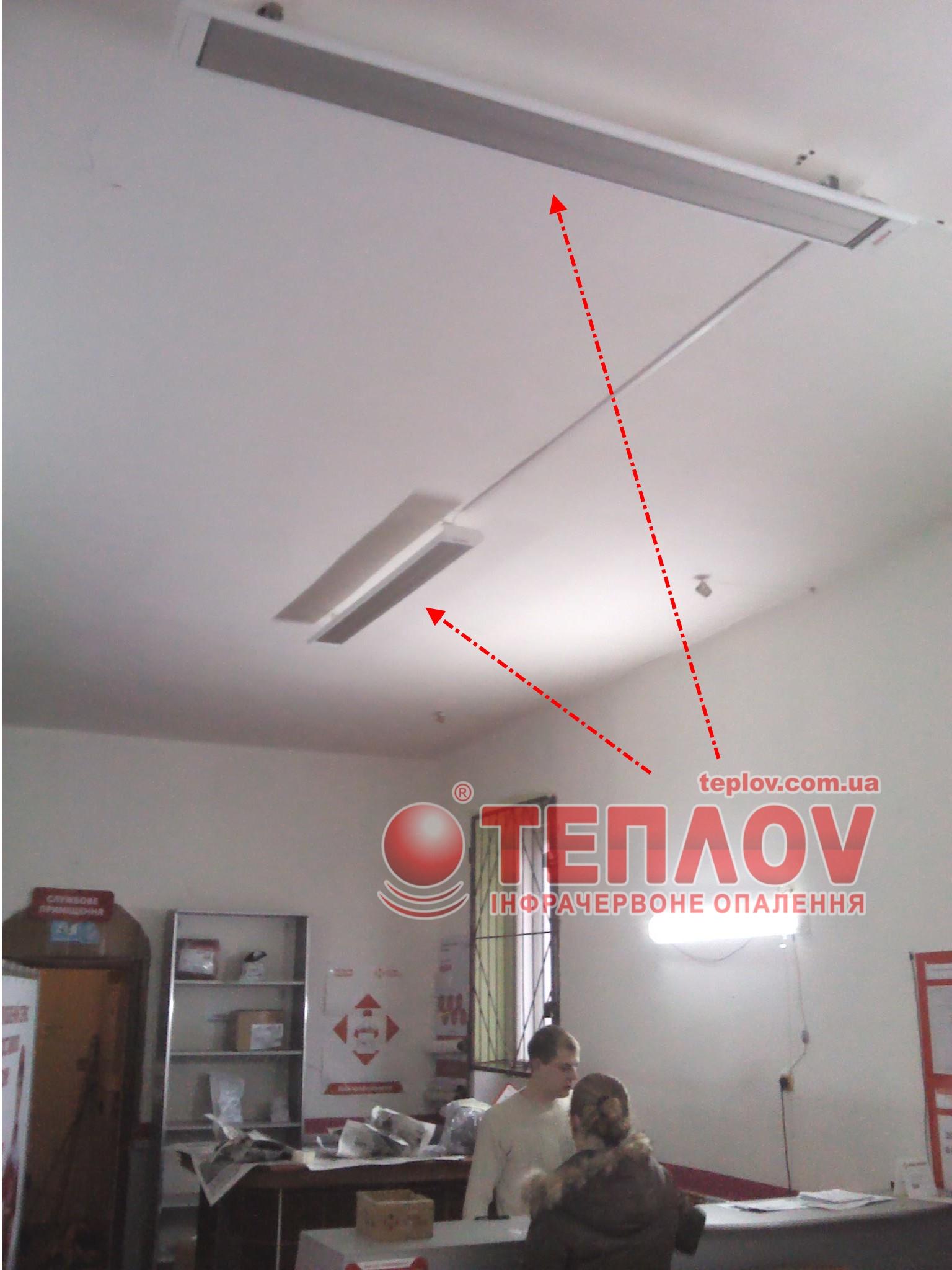электрическое отопление склада инфракрасными панелями