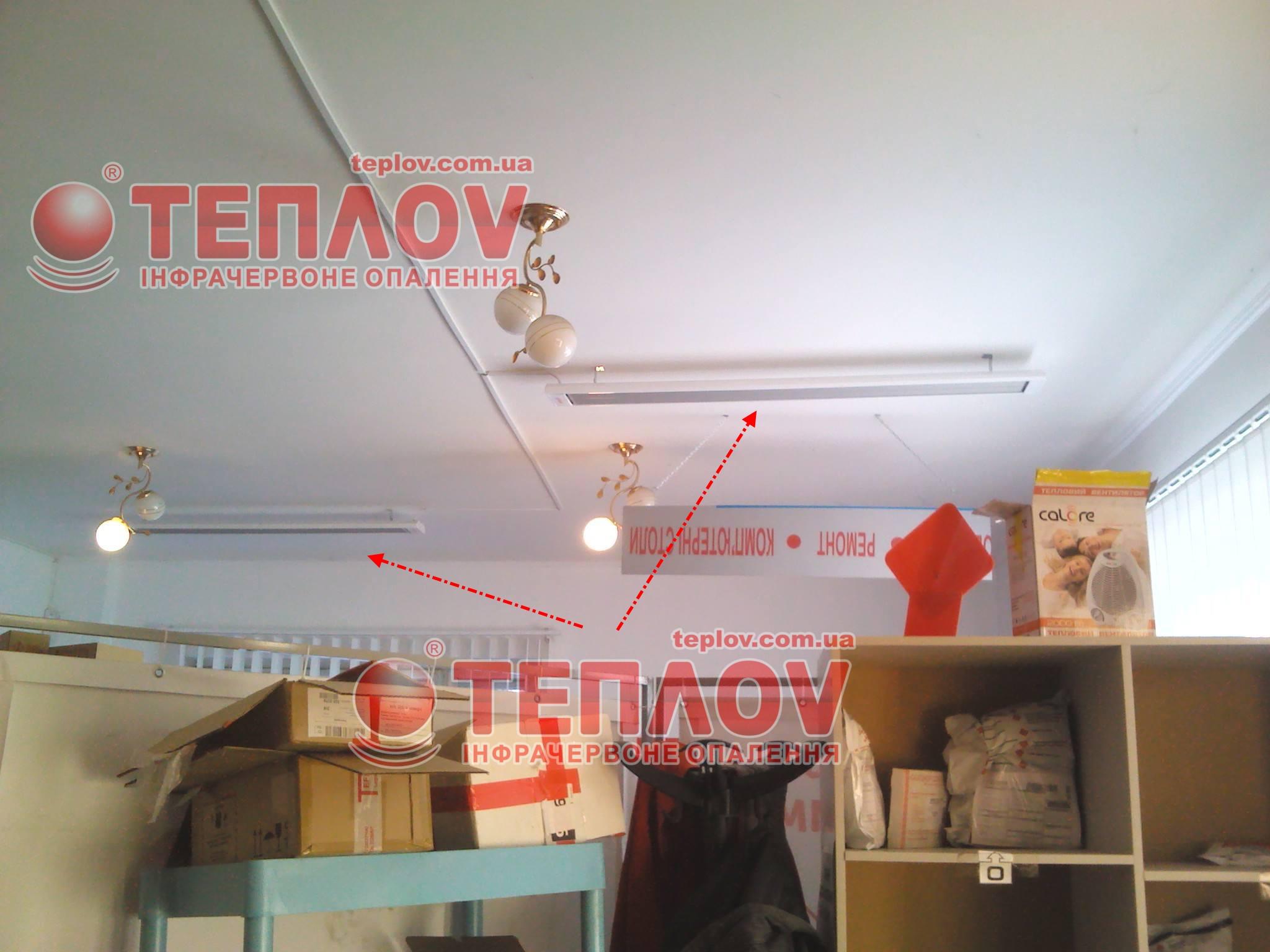 электрическое отопление склада новой почты отделения Перечин