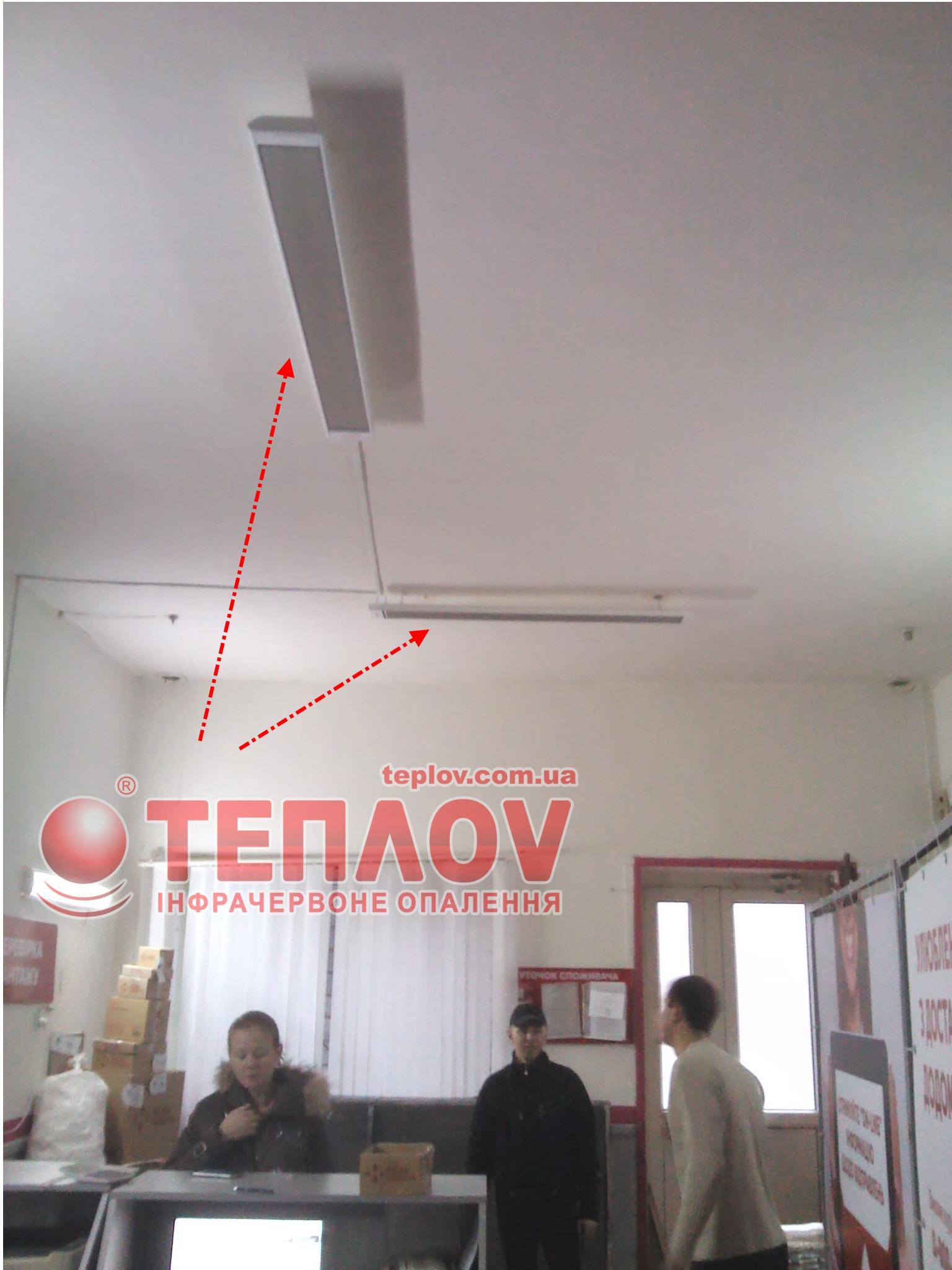 отопление склада электрическими потолочными обогревателями