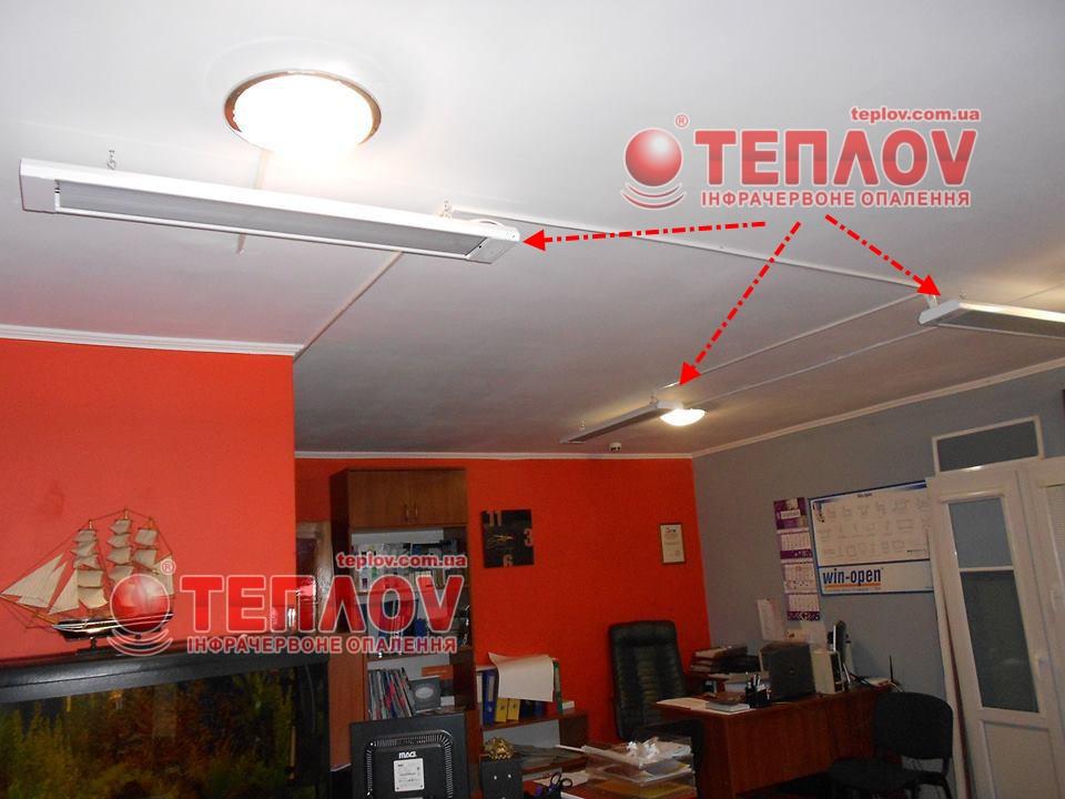 отопление офиса потолочными электрическими обогревателями
