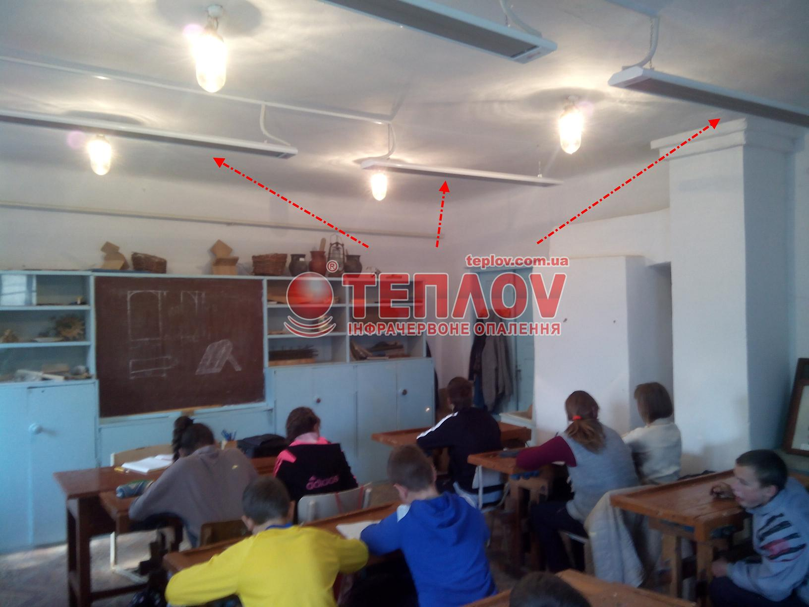 отопление класса школы в г.Ровно