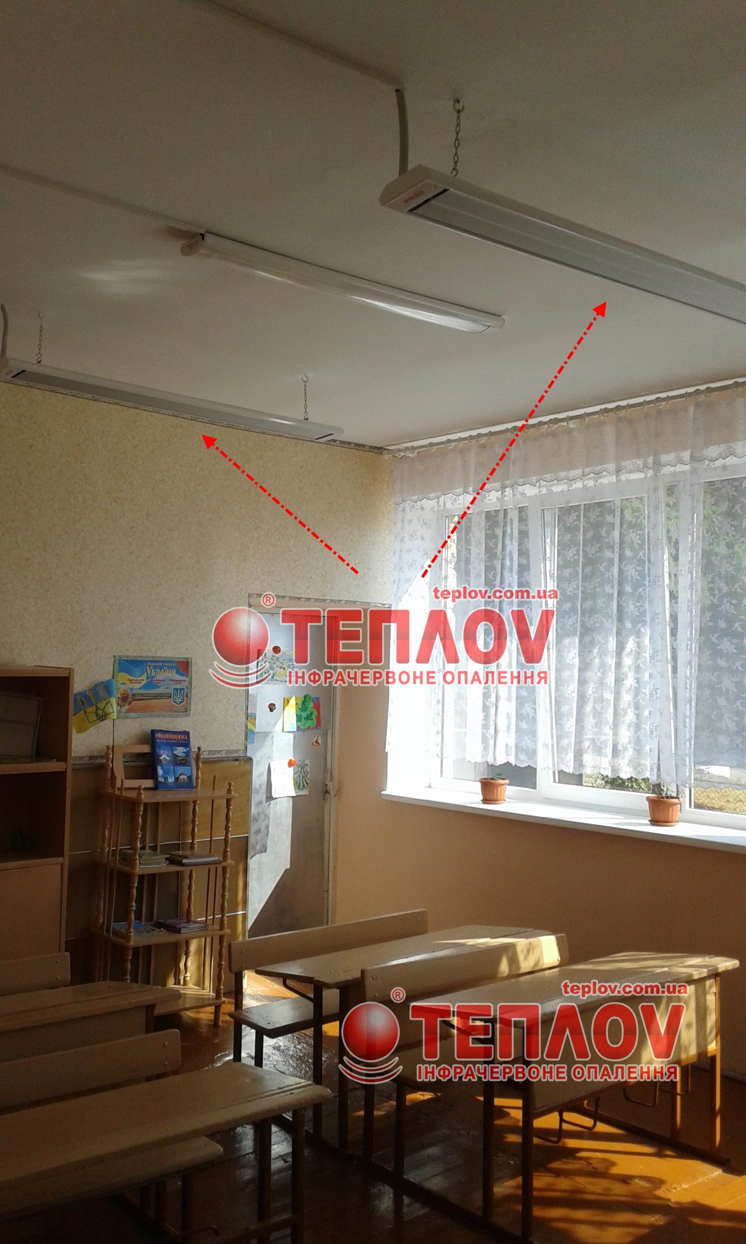 инфракрасные панели используются для отопления школ