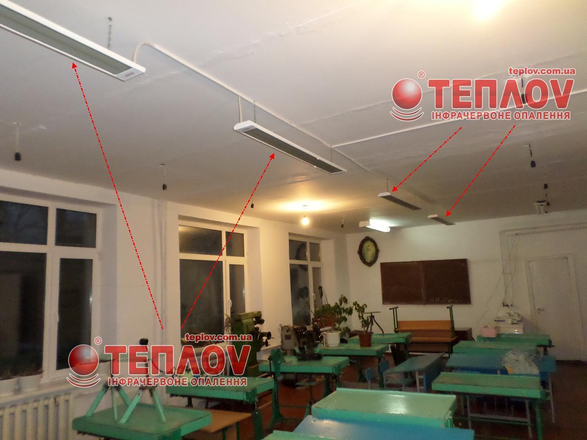 потолочное автономное отопление школы электричеством