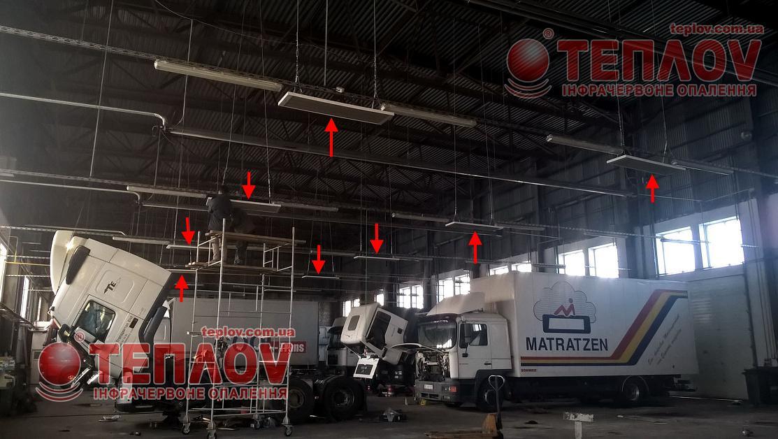 отопление сто грузовых автомобилей