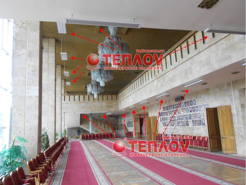 отопление театра потолочными панелями