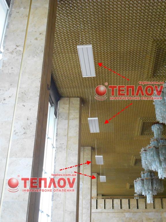 экономичное отопление театра с применением потолочных обогревателей