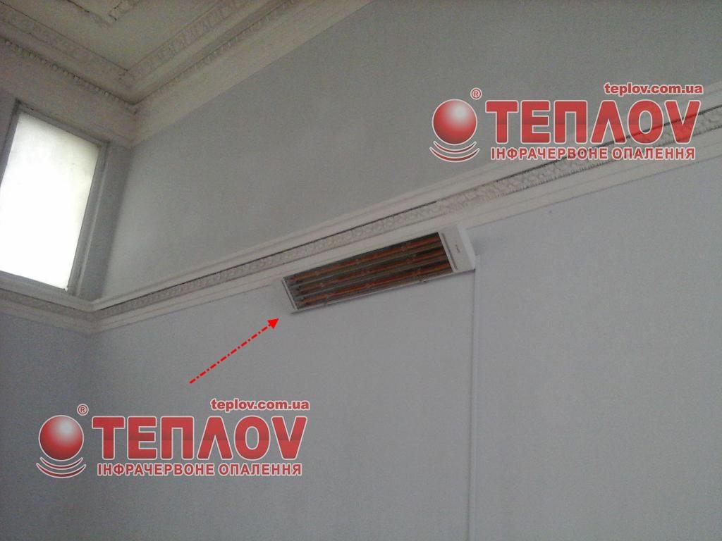 отопление выставочных залов потолочными инфракрасными панелями