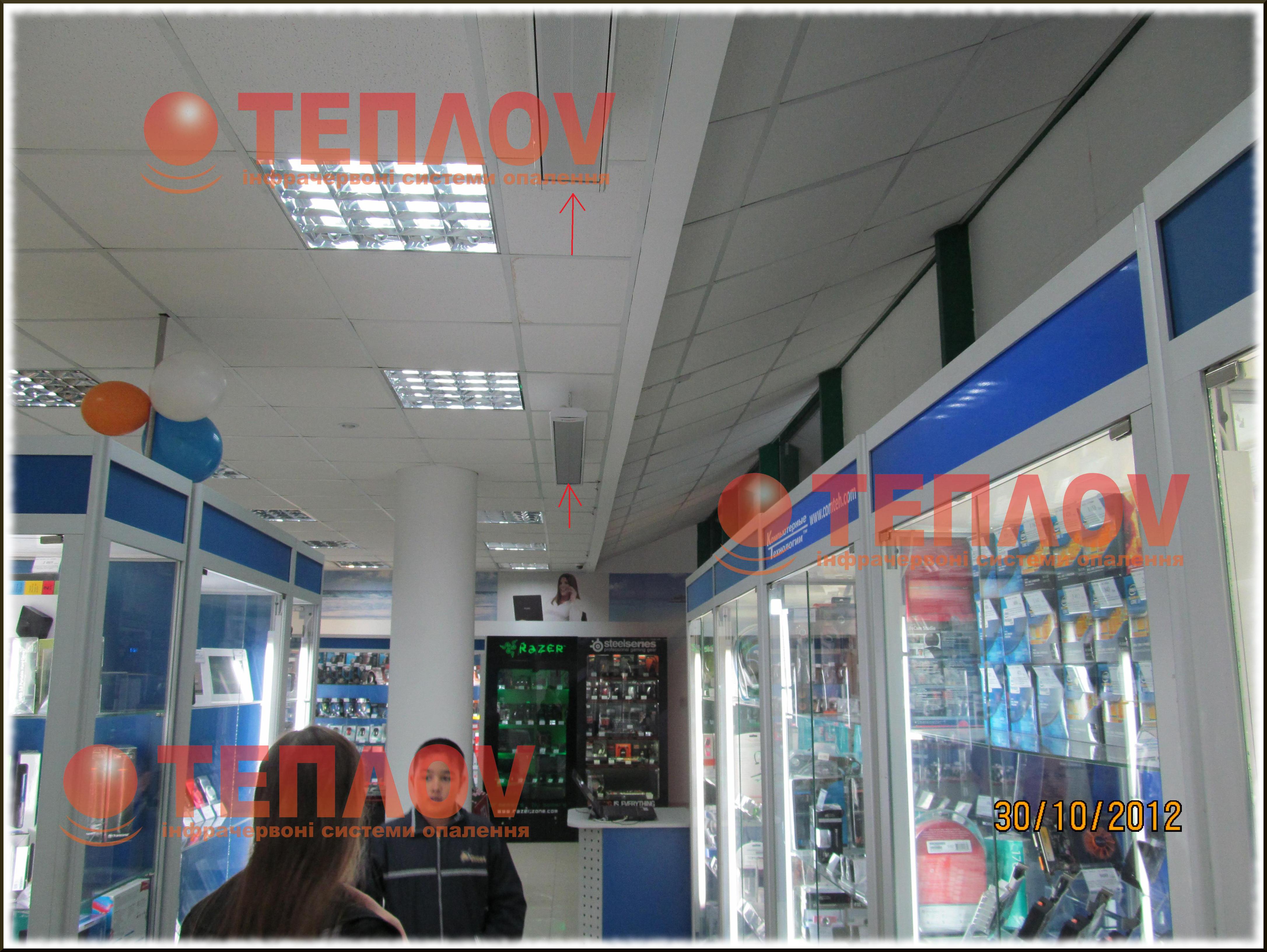 экономичное отопление магазина электрическими обогревателями