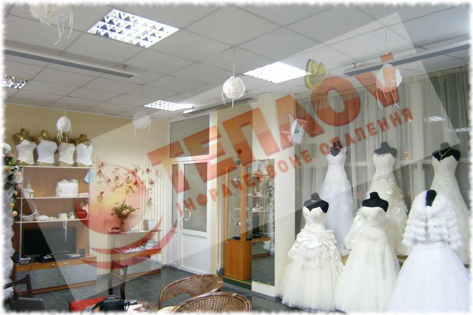 отопление свадебного салона инфракрасными обогревателями