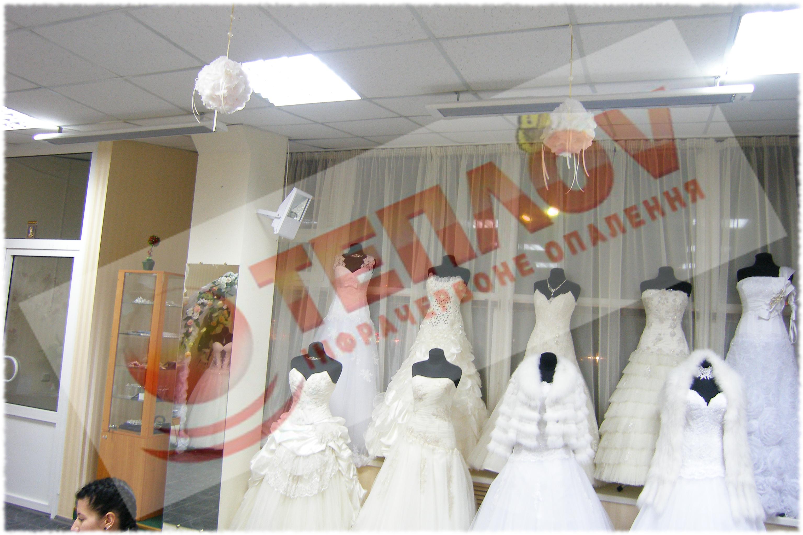 обогрев свадебного салона инфракрасными обогревателями